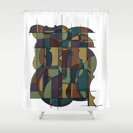String Symphony  Shower Curtain