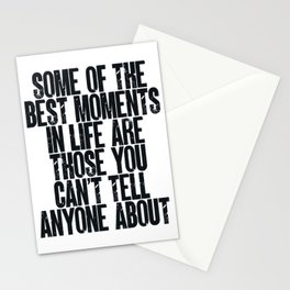 Best moments in life Stationery Cards