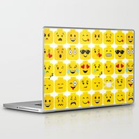 emoji Laptop & iPad Skins featuring Emoji-Minifigure by Raddington Falls