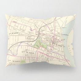 Vintage Map of Hartford Connecticut (1893) Pillow Sham