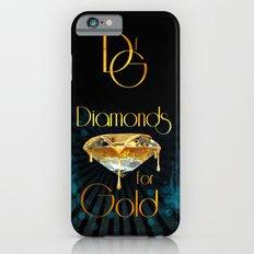 Diamonds for Gold Splatter Slim Case iPhone 6s