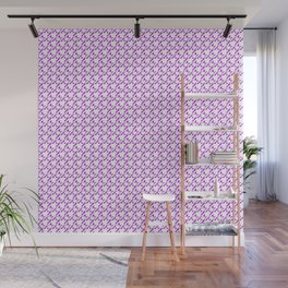 Houndstooth Purple Love Hearts Speckled Pattern Wall Mural