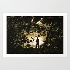 Fishing Art Print