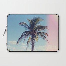 Palm Tree Light Leak Color Nature Photography Laptop Sleeve