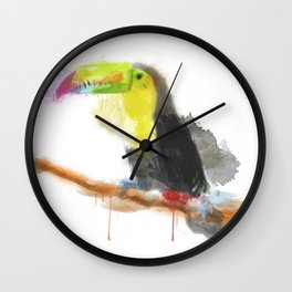 Watercolor Toucan Wall Clock
