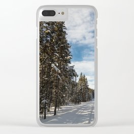 Yellowstone National Park - Grand Loop Road Clear iPhone Case