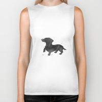dachshund Biker Tanks featuring Dachshund by Carma Zoe