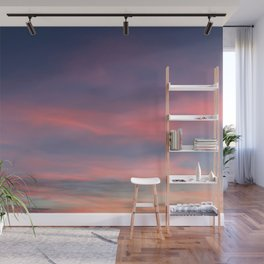 Pink sky in evening Wall Mural