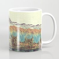 trees Mugs featuring The Unknown Hills in Kamakura by Kijiermono