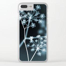 Dark Floral. Midnight Glow Clear iPhone Case