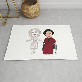 Whatever Happened to Baby Jane, Bette Davis, Joan Crawford Inspired Illustration Rug