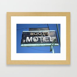 Route 66 - Boots Motel 2010 Framed Art Print