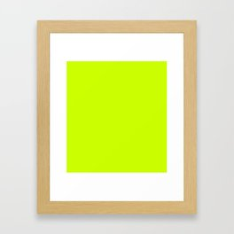 Bright green lime neon color Framed Art Print