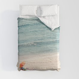 The Orange Beach Umbrella Comforters