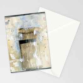 Antigua in Blue -  Latin America Abstract Watercolor Series Stationery Cards