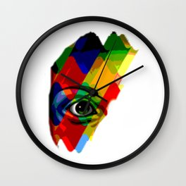 eye posterize Wall Clock