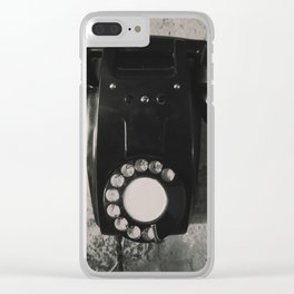 Rotary Telephone Clear iPhone Case