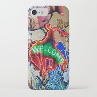 welcome iPhone & iPod Cases featuring Welcome by John Turck