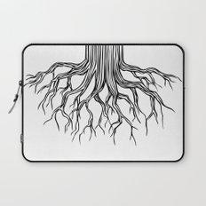 Tree Root Drawing (black on white) Laptop Sleeve