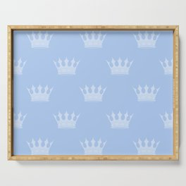 Louis Blue Crowns- Prince of Cambridge Serving Tray