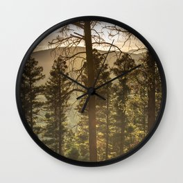 Mountain Forest New Mexico - Nature Photography Wall Clock