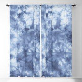 Blue Boho Tie Dye  Blackout Curtain
