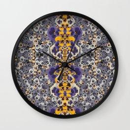 Real Pansies Wall Clock
