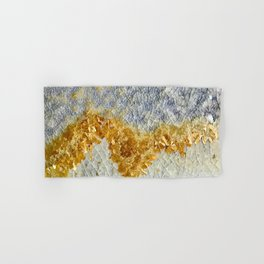 Gold Covered Mountains Hand & Bath Towel