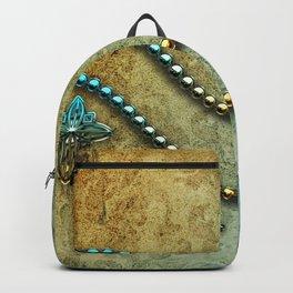 Vintage, blue diamond Backpack