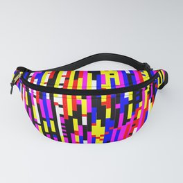 Video Analog Glitch - Digital Glitch Art Fanny Pack