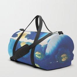Cool Blues N Gold Duffle Bag