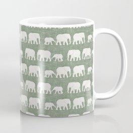 elephant march - sage Coffee Mug
