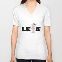 princess leia V-neck T-shirts featuring PRINCESS LEIA by carotoki art and love