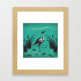 What Could Plastic Hurt? Crane by Sarah Pinc Framed Art Print