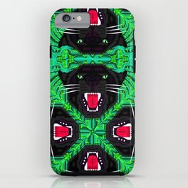 Tropical Gothic Pattern  iPhone Case