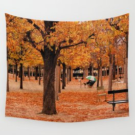 Paris in the Fall Wall Tapestry