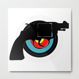 Hand Gun Target Metal Print