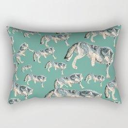 Totem Polar wolf Rectangular Pillow