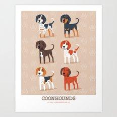 Coonhounds! Art Print