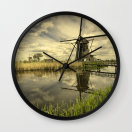 Kinderdyke Reflected Wall Clock