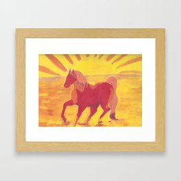 The Red Kelpie Framed Art Print