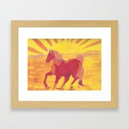 The Red Kelpie Framed Art Print