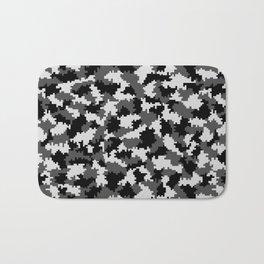 Camouflage Digital Black and White Bath Mat