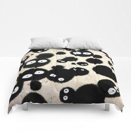 Cute Susuwatari Infestation Comforters