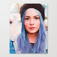 gemma Canvas Prints featuring Gemma by Tina Rojas
