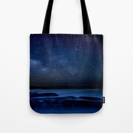 Dark Night California Coastal Waters Tote Bag