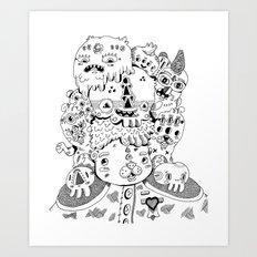 Leader of the Pack Art Print