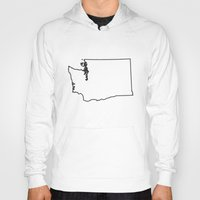 washington Hoodies featuring Washington by mrTidwell