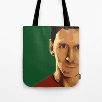 messi Tote Bags featuring Leo Messi by fatimakhaled95
