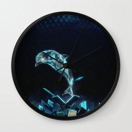 Dolphin Dive Wall Clock